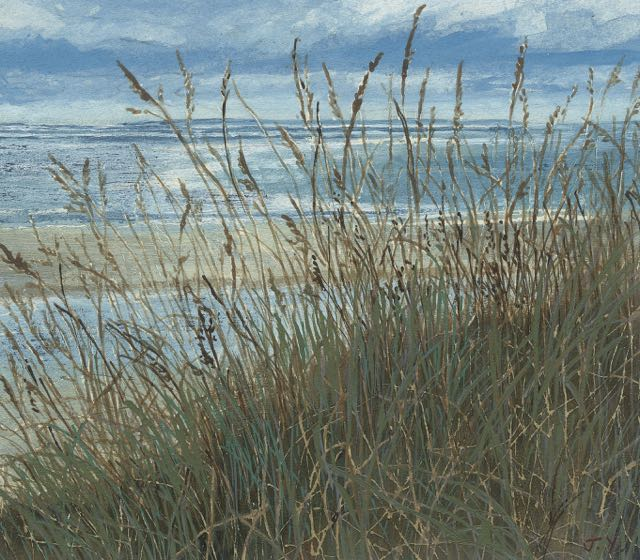 Judith Yarrow limited edition print Carteret  Normandy  looking across to  Jersey