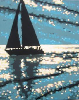 Gordon Hunt Sailing the Serene sea Wychwood Art