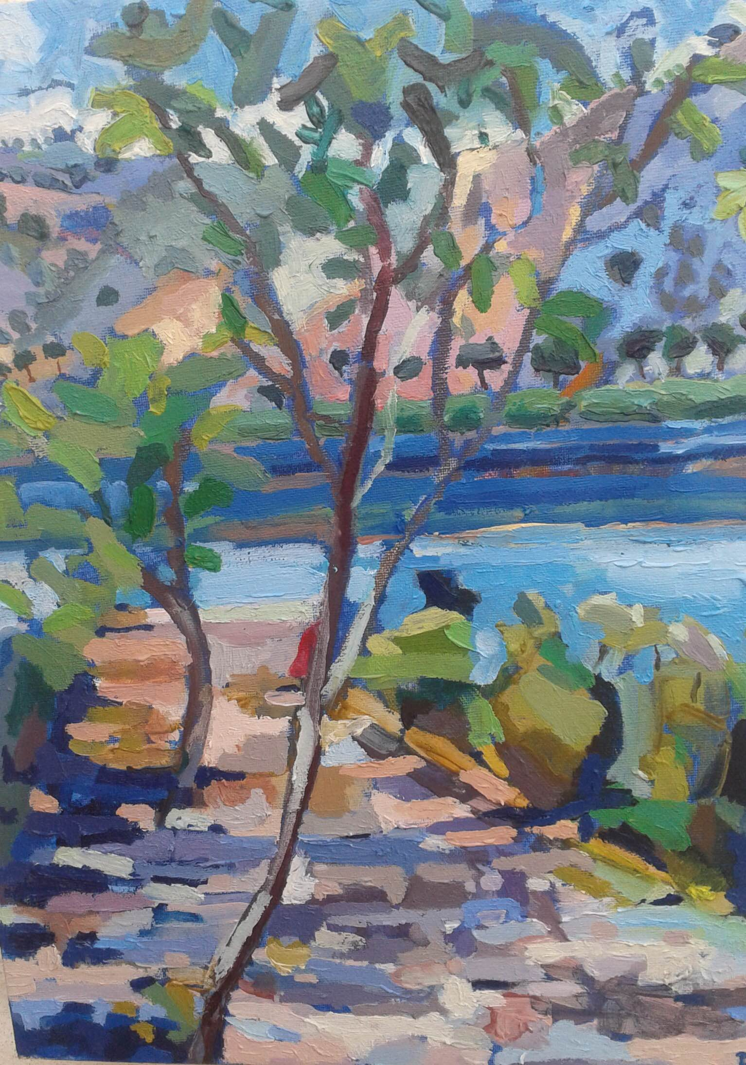 Kimni Kourna- oil on canvas 2014- 41cm x 31cm