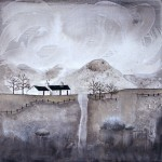 Anya Simmons-Black Rock Cottage-Open Print-Wychwood Art