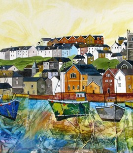 Anya Simmons-Fowey Harbour-Limited Edition Print-Wychwood Art