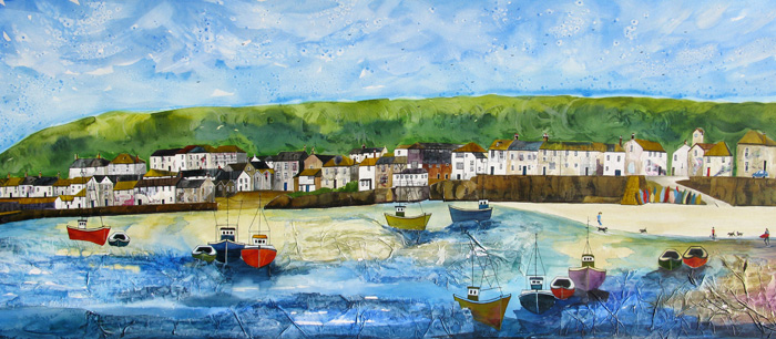 Anya Simmons-Mousehole Cornwall-Open Print-Wychwood Art