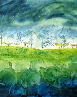 Anya Simmons-Peridot Blossom-Open Print-Wychwood Art