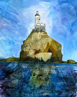 Anya Simmons-Polar Lighthouse-Open Print-Wychwood Art
