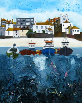 Anya Simmons-The Anchorage Magical St Ives-Open Print-Wychwood Art