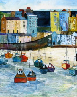 Anya Simmons-Turning Tide Tenby-Limited Edition Print-Wychwood Art
