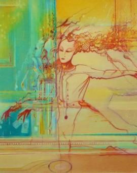 Casino.16ins.x12ins.oil on canvas.Gerard Tunney.Wychwood Art.2015.£450