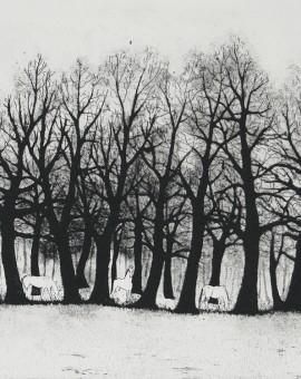Tim Southall, White Horses, Wychwood art