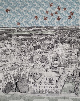 Clare Halifax Aerial View of Oxford Wychwood art