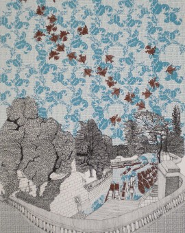 Clare Halifax Punting in Oxford Wychwood art