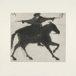 Kate Boxer Dick Turpin on his way to York Wychwood art