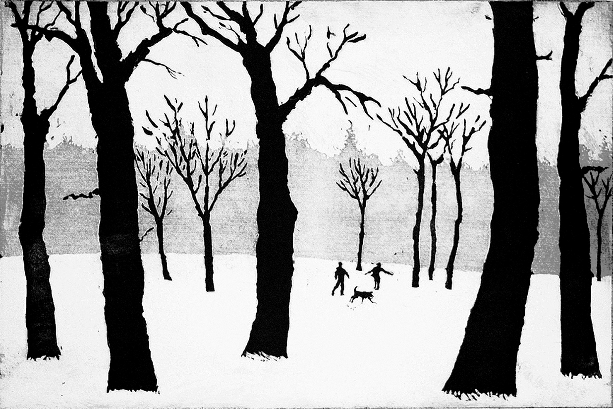 Tim Southall, A Walk in the Snow, Wychwood art