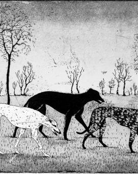 Tim Southall, Strolling Hounds, Wychwood art