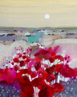Emma Wilson Poppy Field and Moonlight Wychwood art