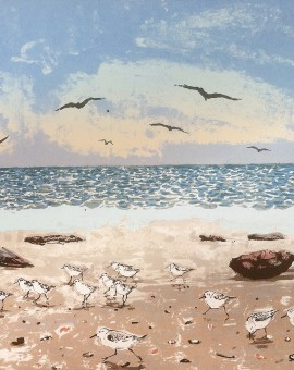 Tim Southall, Birds on a Beach, Wychwood art