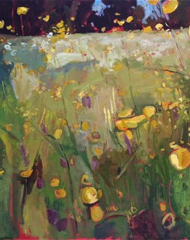 Elaine Kazimierczuk Buttercup meadow with sorrel Wychwood Art