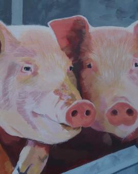 Margaret Crutchley Dinnertime!! Wychwood Art Affordable Art