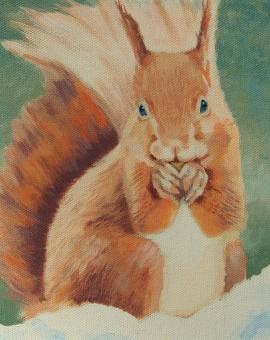 Margaret Crutchley Red Squirrel Wychwood Art Affordable Art