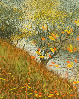 Mark A Pearce Autumn Riverbank wychwood art