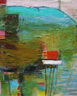 Harbour by Teresa Pemberton  40 x 50 cm oil on canvas