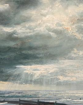 Sarah Spencer Seascape with Breakwaters Wychwood Art
