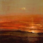 David Scott Moore South Downs Sunset-Scarlet I Wychwood Art