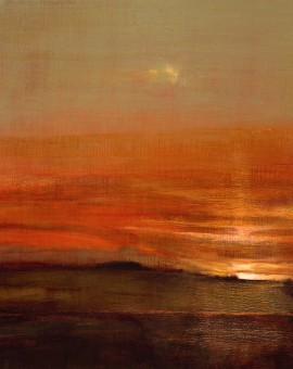 David Scott Moore South Downs Sunset-Scarlet I Wychwood Art