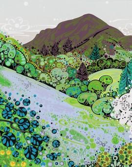 Katie Allen Allt Rhyd y Groes 2 Landscape art
