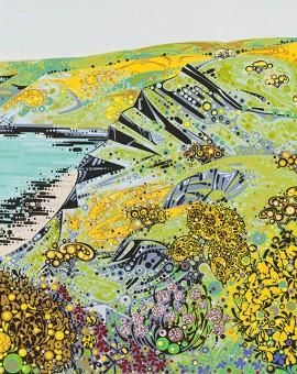 Katie Allen Gorse Headland Print landscape print