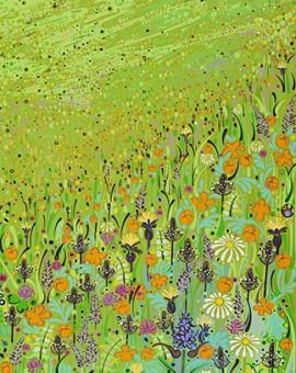 Katie Allen Hay Meadow Hawthorne landscape art
