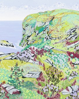 Katie Allen Spring Cliffs Port Eynon coastal art
