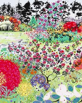 Katie Allen Spring Garden Bodnant 3 affordable art