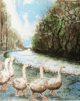 Tim Southall. Goose Patrol. Wychwood Art