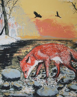 Tim Southall. Winter Fox. Wychwood Art
