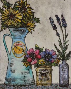 Vicky Oldfield, Summertime, Wychwood Art, Original Print, Royal Academy Summer Exhibition Artist
