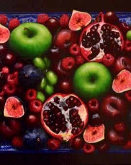 Nilcolette Dowler Rosy Cornucopia Wychwood Art