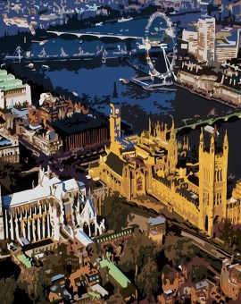 Alicia Dubnyckyj,Above Westminster IX, London, Wychwood Art