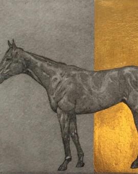 Guy Allen Little Horse Study Gold  Wychwood Art