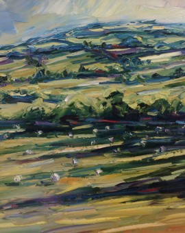 Rupert Aker Long Shadows and Sheep, Winchcombe