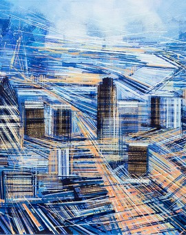 Marc Todd Big City London Painting Wychwood Art