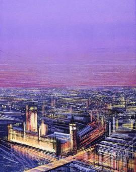 Marc Todd London Sunset London Painting Wychwood Art