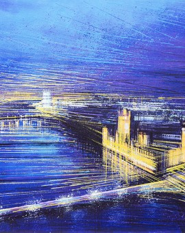 Marc Todd Night In Westminster London Painting Wychwood Art