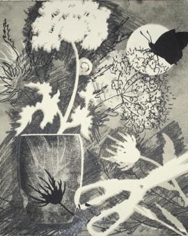 Rosemary Farrer, 'Hogweed and Snail', WychwoodArt.jpeg