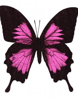 smallbutterflypinkss-PapilioUlysses-NeonPink-Wychwood Art