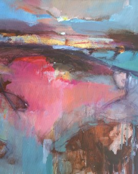 Magdalena Morey | Interlude 1 | Abstract Landscape Painting | WychwoodArt