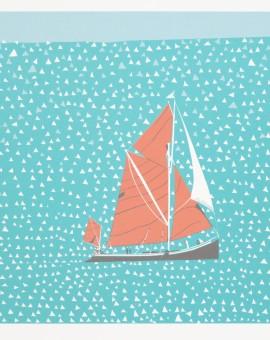 Simon Tozer Greta 3 boat print Wychwood art