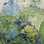 Elaine Kazimierczuk Delphiniums and Lilies Wychwwod Art