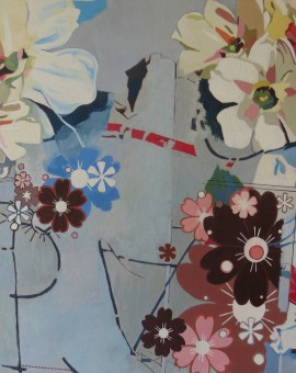 Simon M Smith Convocation white flowers Painting