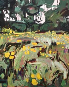 Elaine Kazimierczuk Buttercup Meadow at Grandpont, Oxford Wychwood Art