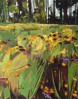 Elaine Kazimierczuk Christ Church Meadows from the Botanical Gardens, Oxford, Wychwood Art